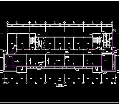 某公司六层综合楼给排水设计图纸