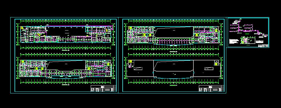 某三层车站自动喷淋系统图纸