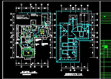 二层别墅电气设计图纸