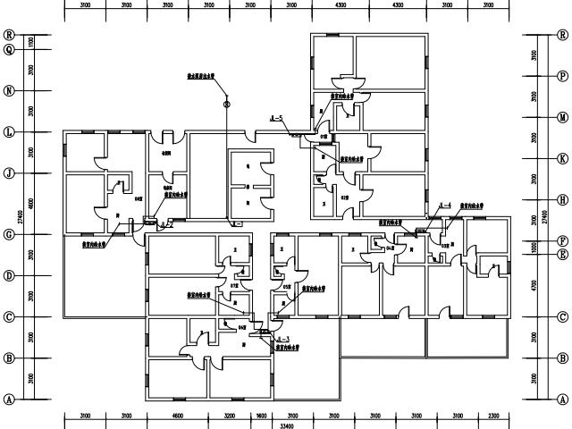 某住宅小区二次改造桥台供水设计图(pdf设施)免设计计算的与格式图片