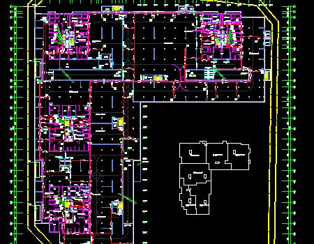 大型地下室给排水全套施工图