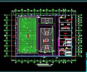 两层全民健身中心水电施工图纸