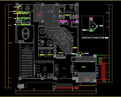 某区服务中心室内装修给排水施工设计图纸