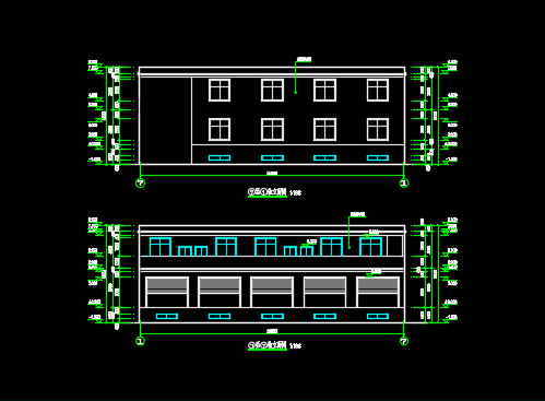 某三层框架结构综合楼建筑、给排水施工图纸