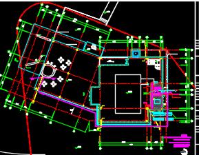 某三层售楼处给排水施工图(含建筑结构电气图)