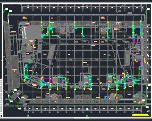 五层商业楼广场给排水设计施工图