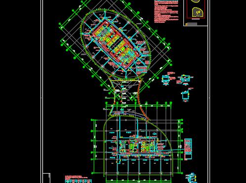 超高层金融中心电气、暖通、给排水施工图纸