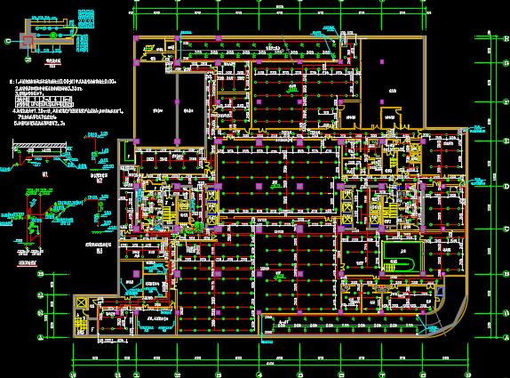 十八层办公楼给排水施工图纸(给水、排水、雨水、中水)
