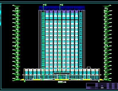 某十七层办公楼给排水施工图纸(含建筑图纸)