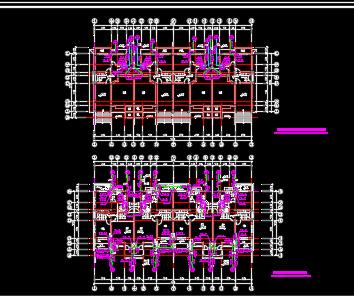 高档联排三层别墅给排水设计图纸