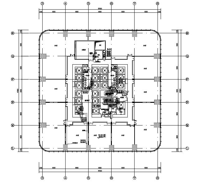 四十五层办公商业综合楼机电(水、电、暖)施工图纸(地上部分、PDF格式)