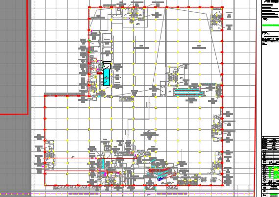 某家居商场全套施工图纸(含给排水、电气、暖通)