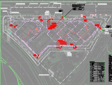 超高层双子办公塔楼项目机电设备施工图纸(含水、暖、电)