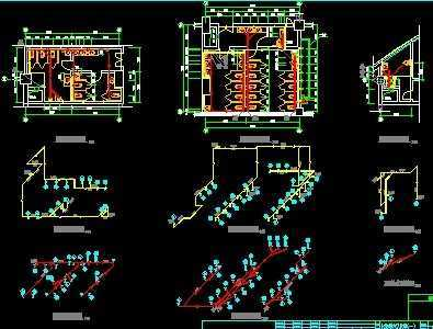 高层办公楼卫生间给排水施工图