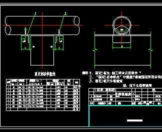 架空管道支架设计详图