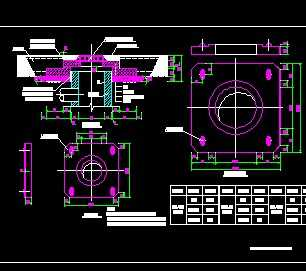 分离式防沉降窨井盖座设计图
