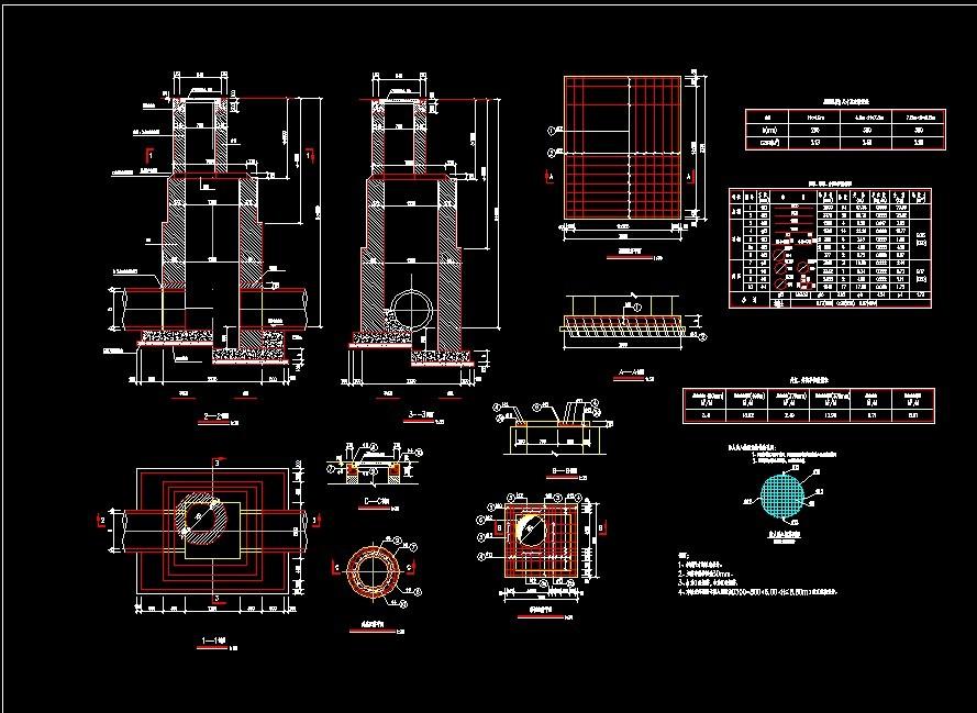 超深的检查井结构设计图