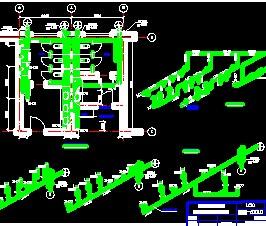 卫生间给排水管道系统图免费下载-文化小区给墙市政cad图纸图片