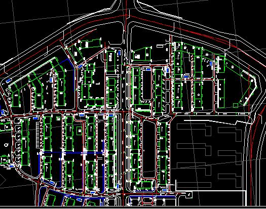 某市街区改造排水总平面图