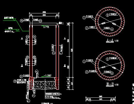 道路排水工程倒虹管井及牵引井设计图