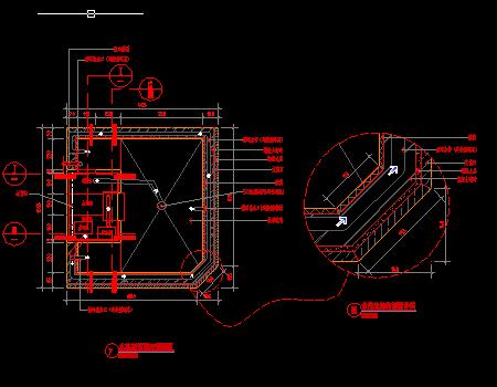 叠水水池系统CAD节点