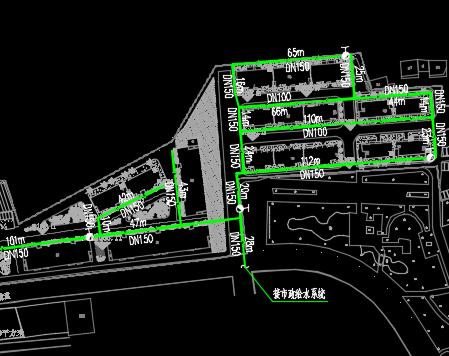 棚户区综合整治配套基础设施建设项目给水总平面图