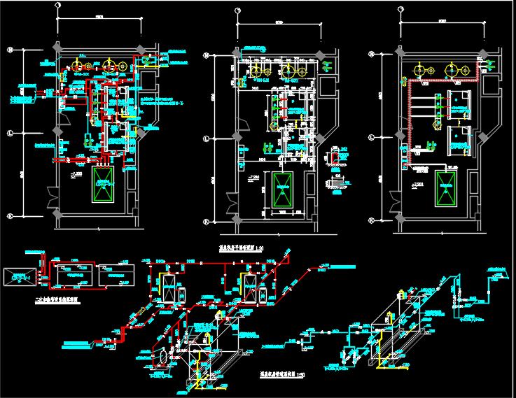 某景区配套商业用房温泉室内外水系统图纸
