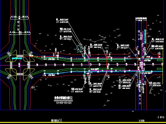 城市环路市政工程给排水设计施工图纸