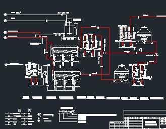 厂房带控制点水处理工艺流程图