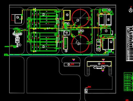 污水处理厂A2O工艺全套施工图纸