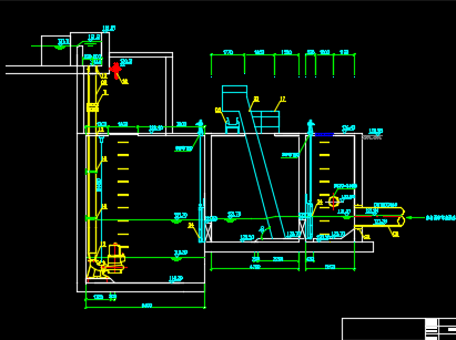 粗格栅和进水泵房施工图纸