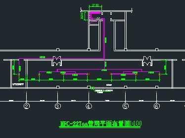 某机房七氟丙烷气体灭火系统设计图