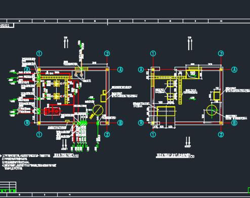 消防水泵房及消防水池给排水设计详图