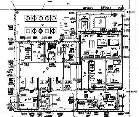 某厂区消防管道布置图