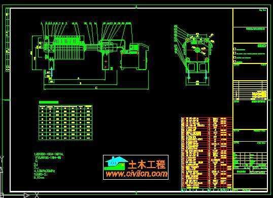 厢式压滤机安装结构图