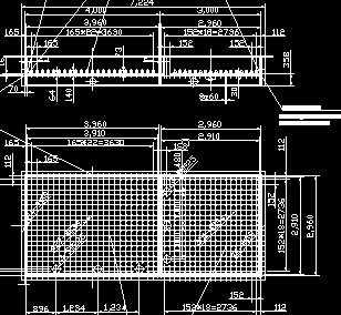 曝气生物滤池布水板结构图