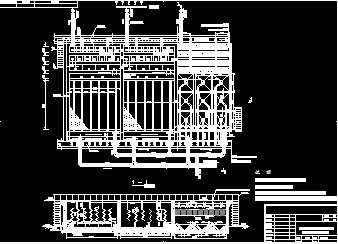 某水电站施工供水的絮凝反应沉淀池的工艺施工详图图片