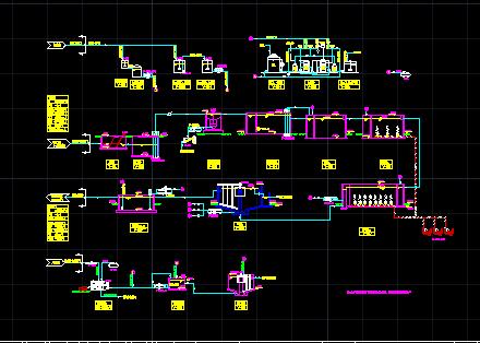 某生活污水处理工艺流程图