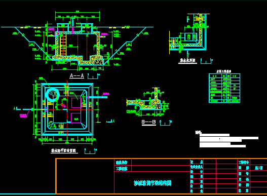 渗滤液调节池施工图