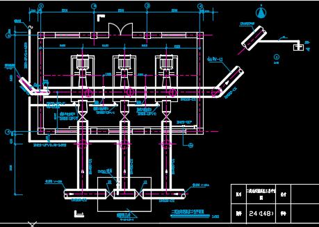 二沉池污泥泵房工艺平面图