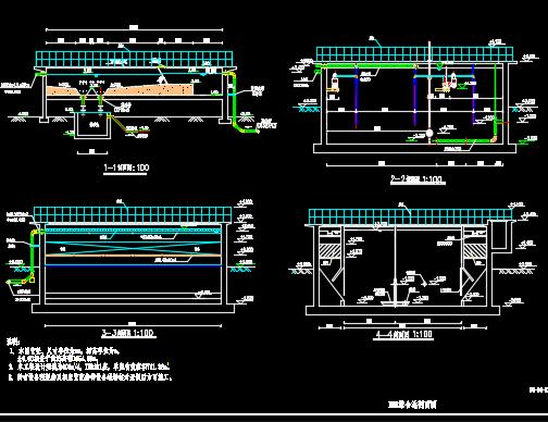 污水处理厂IBR生物处理设计图纸