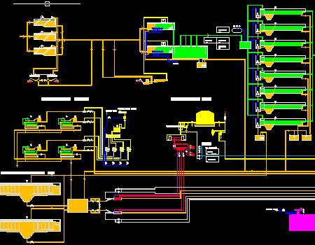 污水处理厂平面图纸