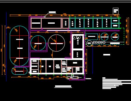污水处理整改工程施工图纸(含土建、管道竣工图、设备图)