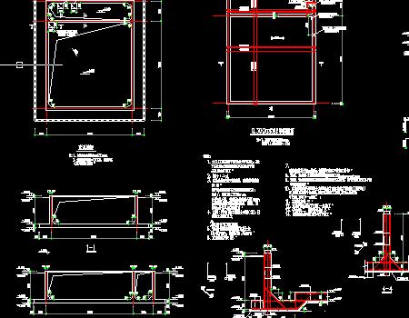 废水池结构施工图