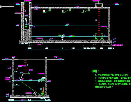 河道污水处理设施施工图