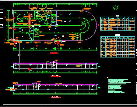 污水处理厂工程改良型卡式氧化沟施工图
