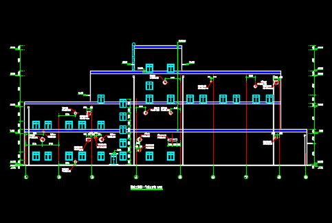 湿法脱硫工艺楼建筑施工图纸