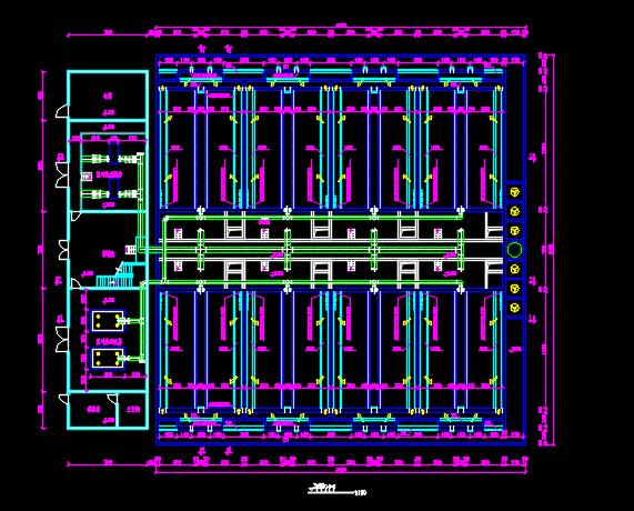 某地污水厂V型滤池设计图纸