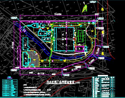 某县污水处理厂工艺设计施工图纸