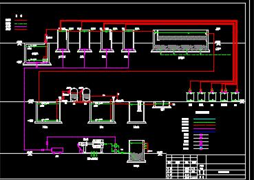 某化工厂终端污水处理施工图纸